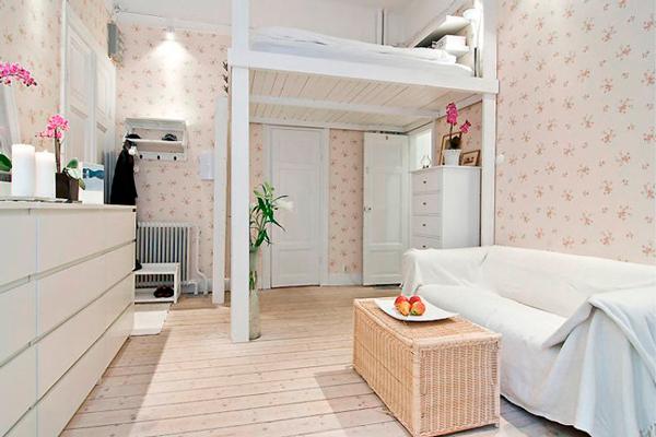 фото детской и гостинной в одной комнате