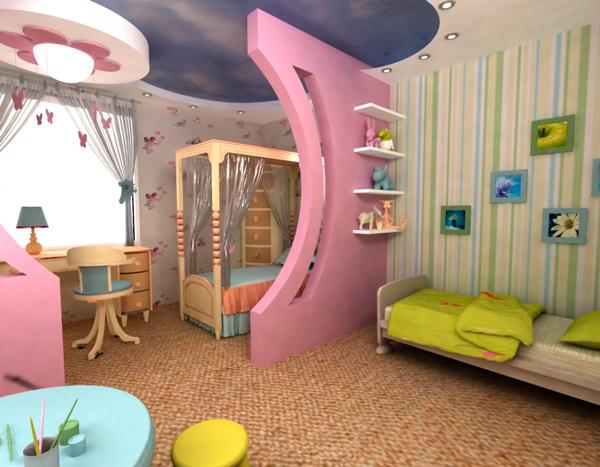 как обустроить комнату для двух разнополых детей
