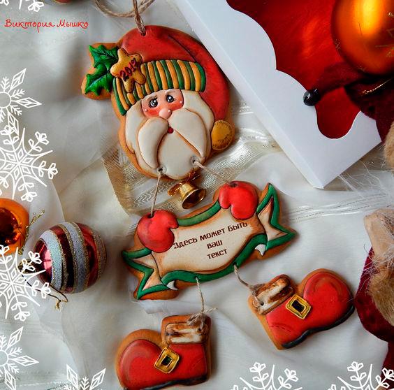 фото новогоднего печенья с пожеланием