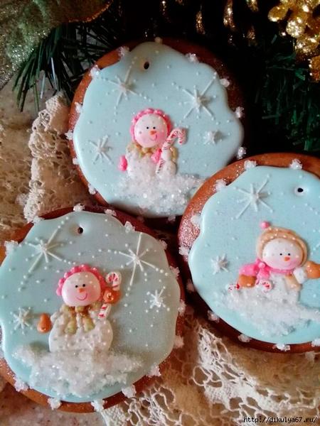 фото очень красивого печенья на новый год
