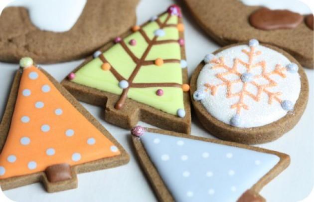 аппельсиновая глазурь для новогоднего печенья