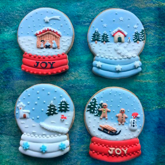 фото красивого новогоднего печенья