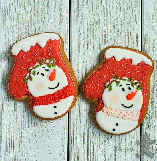 руковички новогоднее печенье