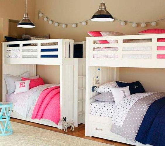 дизайн детской комнаты для двух разнополых детей с фото 5