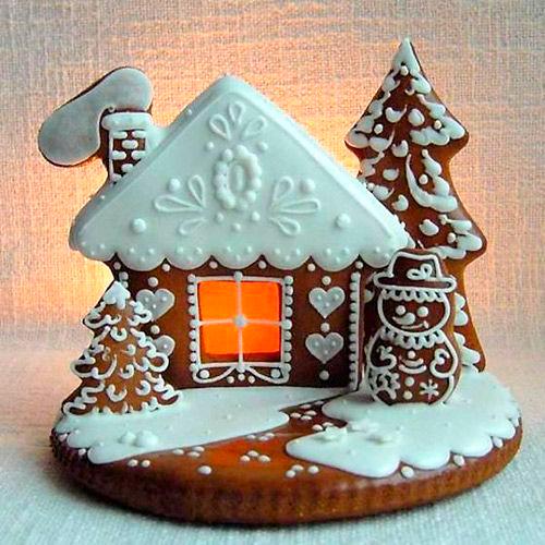 домик в снегу из печенья