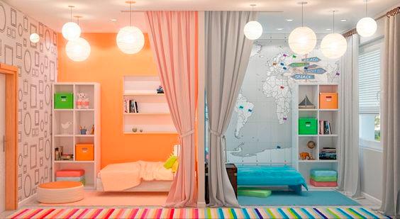 фото детской комнаты для мальчика и девочки 2
