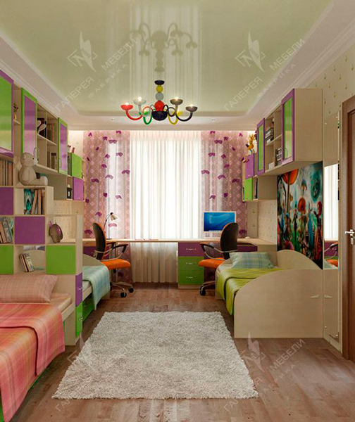 детская комната для двух разнополых детей 8