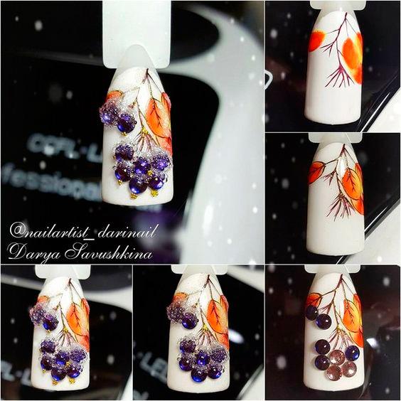 новогодний дизайн ногтей с пошаговым фото