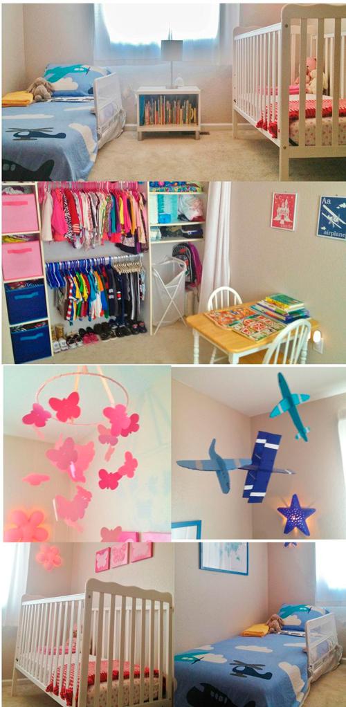 дизайн детской комнаты для двух разнополых детей с фото 4