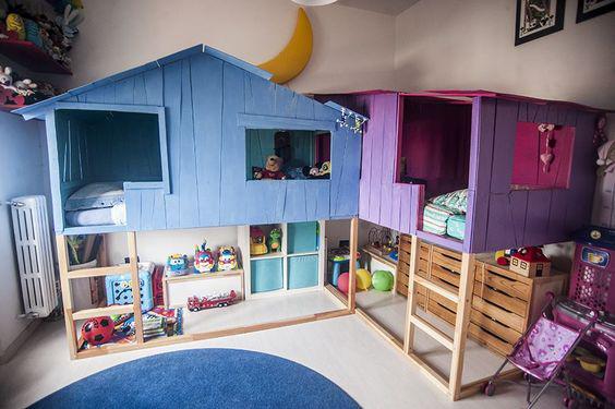 дизайн детской комнаты для двух разнополых детей с фото 3