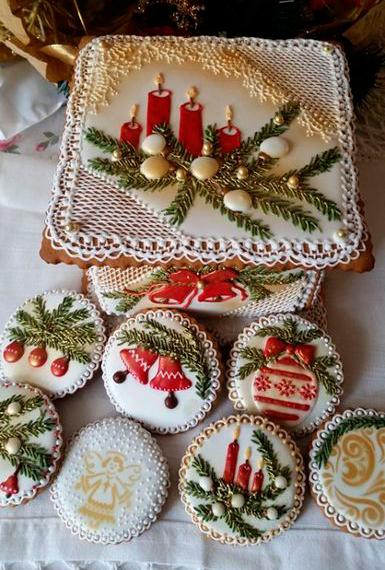 новогоднее печенье: красивое фото