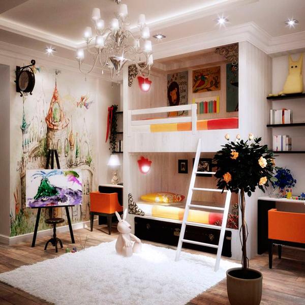 детская комната для двух разнополых детей 1