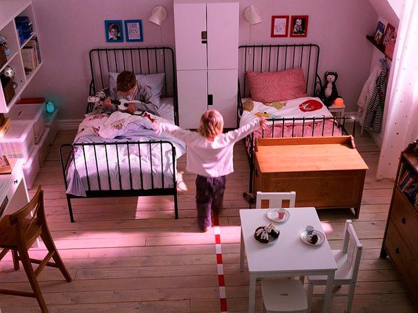 детская комната для двух разнополых детей 2