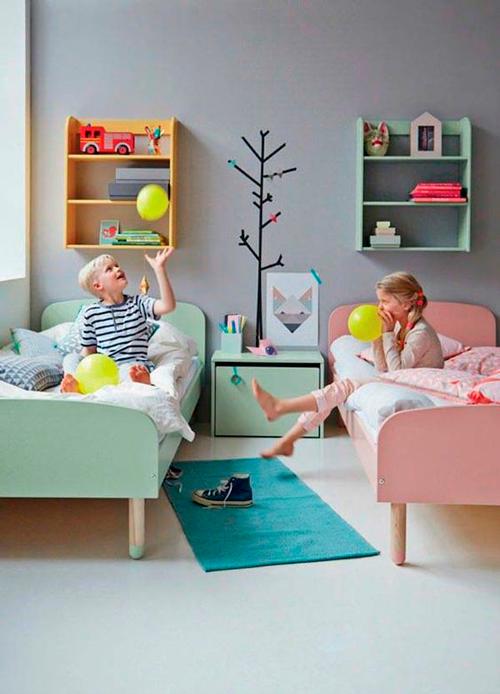 мебель в комнате для двух детей