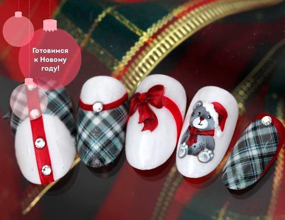 красивые ногти на новый год