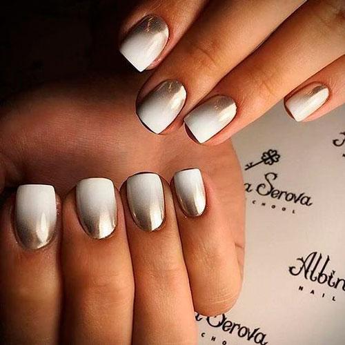 дизайн ногтей в белом цвете градиент 4