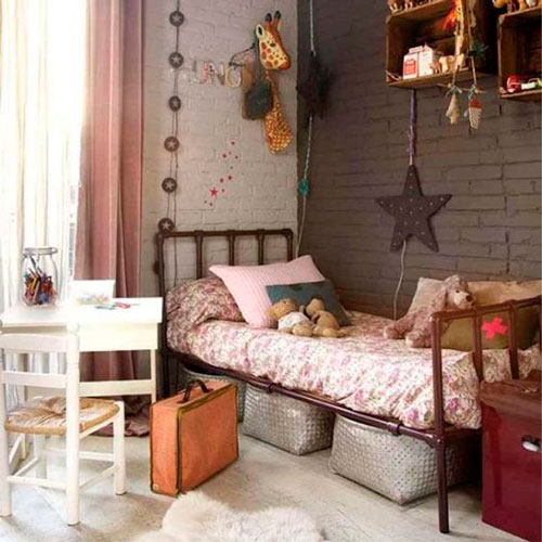 beautiful interior of a nursery in beige color 3