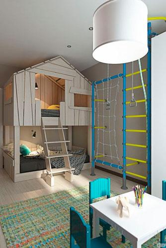 как интересно раставить мебель в детской комнате