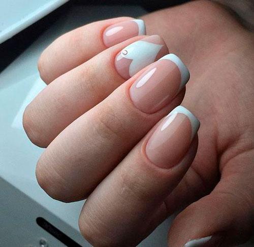 дизайн ногтей в белом цвете с рисунком 4