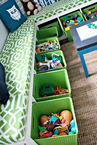 Как расставить мебель в детской комнате: хранение игрушек 4