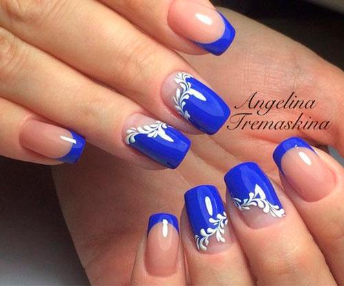 дизайн ногтей в белом цвете с рисунком 3