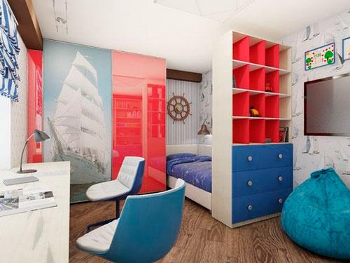как интересно раставить мебель в детской комнате 8