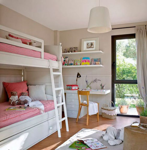 Beige rooms for two children 5