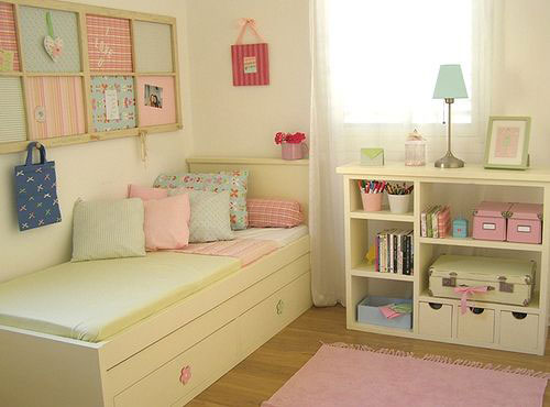 Beige color in the interior of the children's room 4