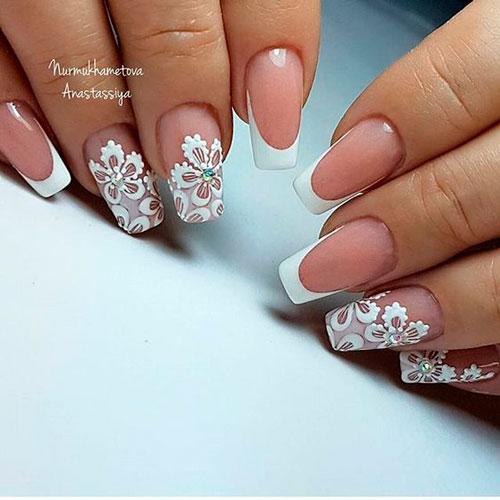 фото дизайна ногтей в белом цвете с рисунками 3