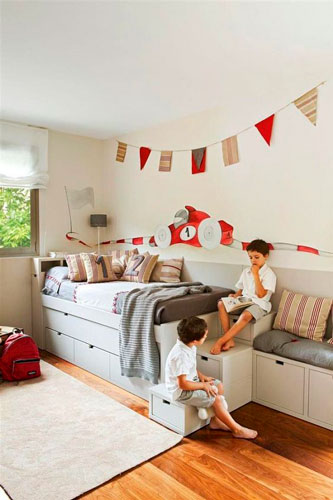 nursery interior in beige color 20