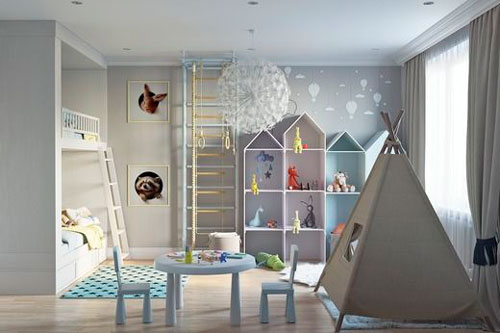 бежевая комната для ребенка 10