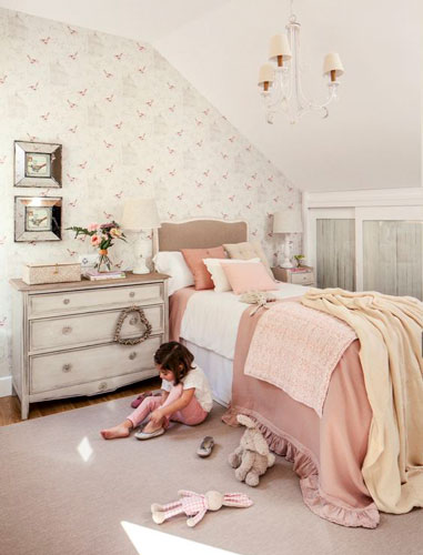 nursery interior in beige color 19