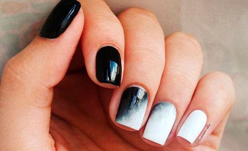 дизайн ногтей в белом цвете градиент 3