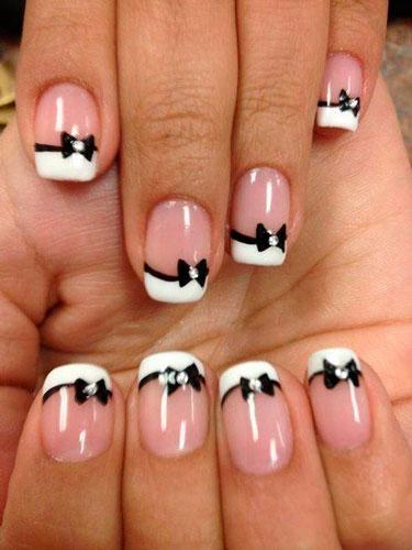фото дизайна ногтей в белом цвете 5