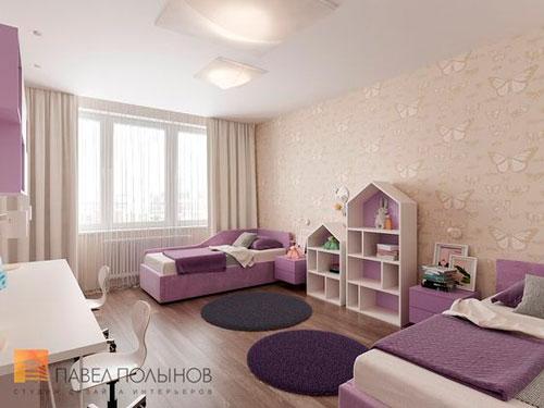 расположение мебели в детской комнате для двоих