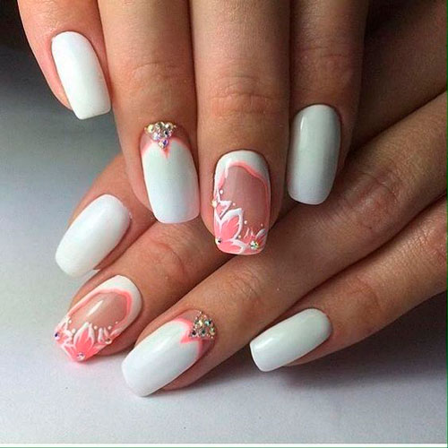 фото дизайна ногтей в белом цвете 4
