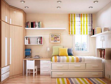 children's room interior in beige color 13