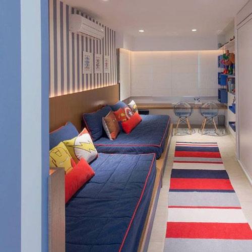 как расположить мебель в детской комнате: спальная зона