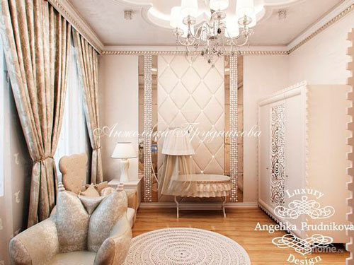 nursery interior in beige color 10