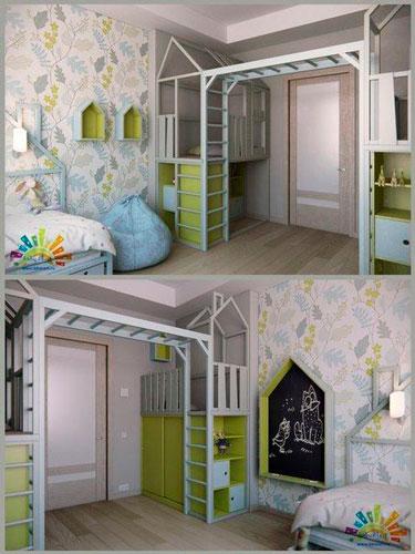 расположение мебели в комнате ребенка 9