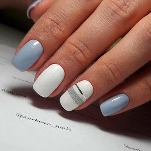 дизайн ногтей в белом цвете для вечеринки 2