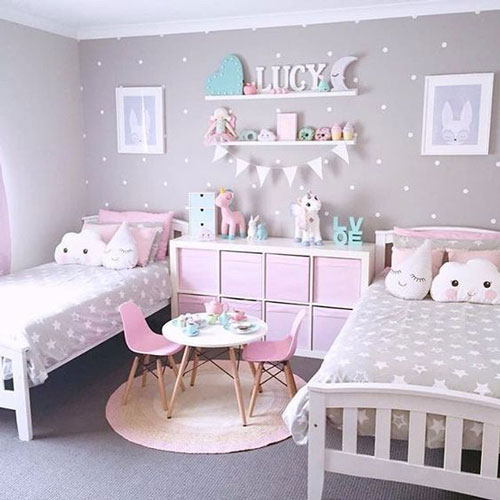 Бежевые комнаты для двух детей 3
