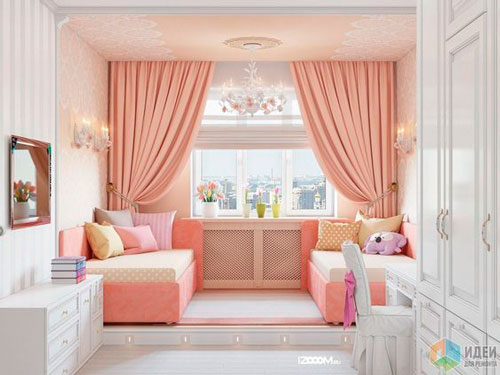 Beige rooms for two children 2