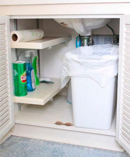 как порядок на кухне где мусорное ведро