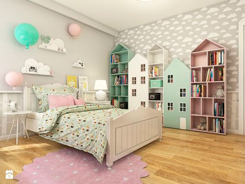 contrasting colors in a beige room for children 4