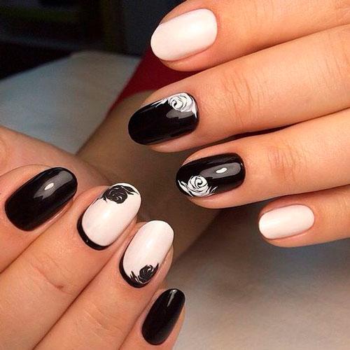 дизайн ногтей в чено белом цвете 3