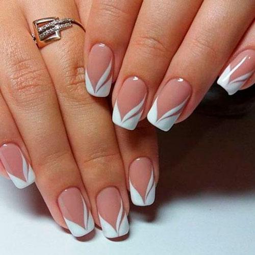 романтичный дизан ногтей в белом цвете