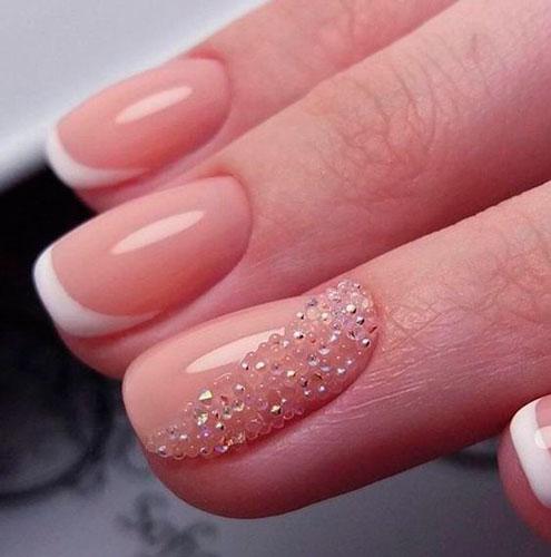 дизайн ногтей с блестками 3