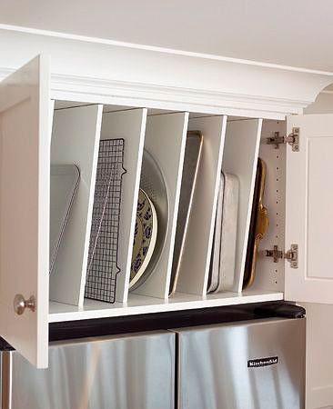 вертикальные разделители для порядка на кухне