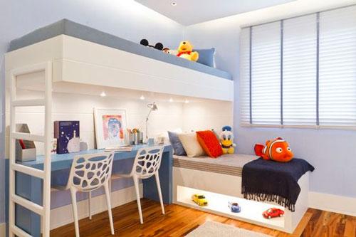 как расположить мебель в детской комнате: учебная зона 2